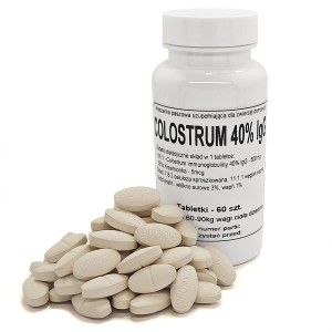 Colostrum, siara immunoglobuliny 40% lgG - tabletki 500 mg