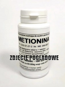 DL-Metionina 99% ( Metionina ) - tabletki 500 mg.